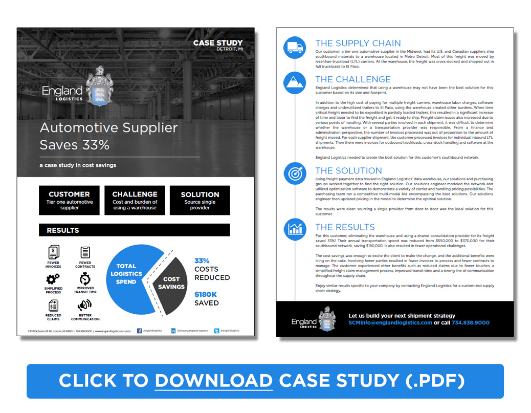 Download Supply Chain Case Study PDF