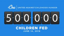 500000 Meals Fed Childhood Hunger Milestone