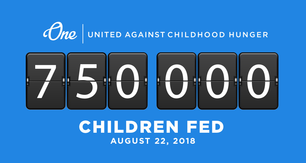 One Initiative 750000 Meals