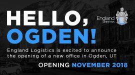 England Logistics New Location Ogden Utah