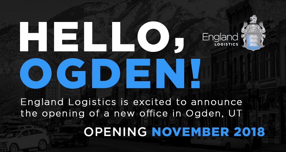 England Logistics New Location Ogden Utah