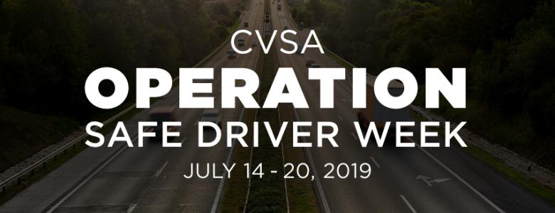 CVSA Operation Safe Driver Week