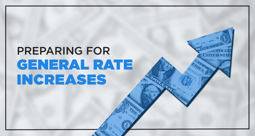 preparing for general rate increases blue money arrow pointing up
