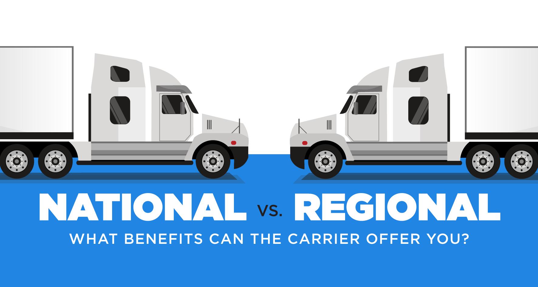 national carrier vs regional carrier benefits