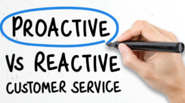 Proactive vs reactive customer service